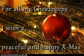 For all my Cheezpeeps I wish a peaceful and happy X-Mas