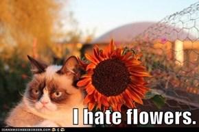 I hate flowers.