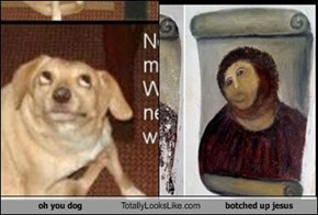 oh you dog Totally Looks Like botched up jesus