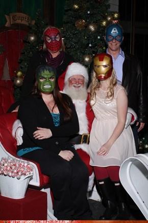 Avengers Salute Santa