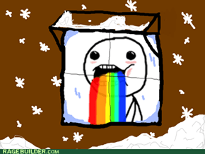 Snow makes me puke rainbows.