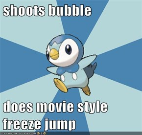 shoots bubble  does movie style freeze jump