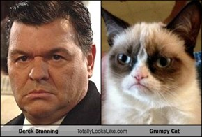 Derek Branning Totally Looks Like Grumpy Cat