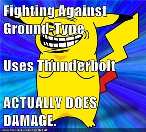 Fighting Against Ground-Type Uses Thunderbolt ACTUALLY DOES DAMAGE.
