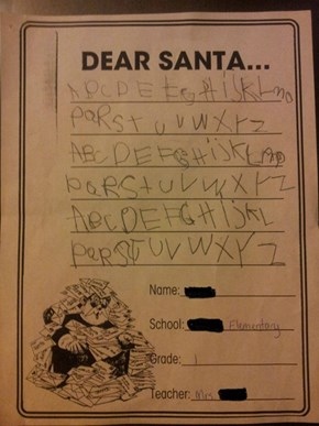 I Wrote My Letters to Santa!