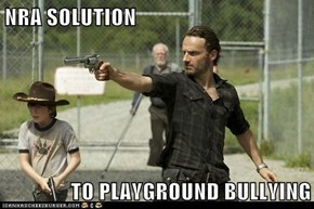 NRA SOLUTION  TO PLAYGROUND BULLYING