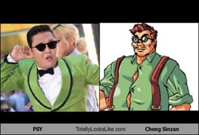 PSY Totally Looks Like Cheng Sinzan