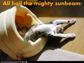 All hail the mighty sunbeam!