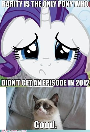 Rarity doesn't get one in 2012?