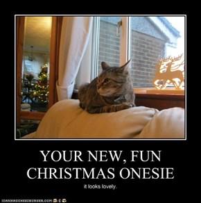 YOUR NEW, FUN CHRISTMAS ONESIE