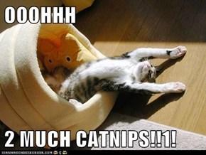 OOOHHH  2 MUCH CATNIPS!!1!