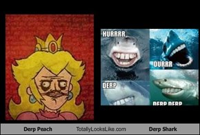 Derp Peach Totally Looks Like Derp Shark