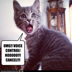 OMG!! VOICE CONTROL! NOOOOO!!!  CANCEL!!!