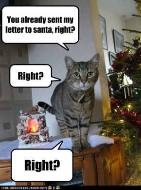 You already sent my letter to santa, right?
