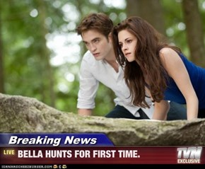 Breaking News - BELLA HUNTS FOR FIRST TIME.