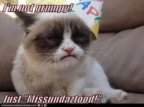 "I'm not grumpy!  Just ""Missundaztood!"""