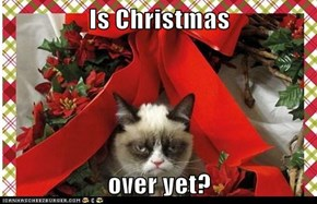 Is Christmas  over yet?