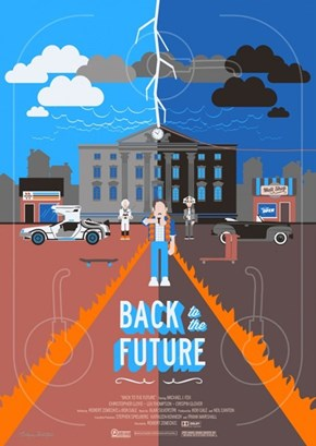 Illustrated Back to the Future Poster