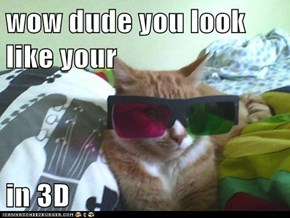 wow dude you look like your   in 3D