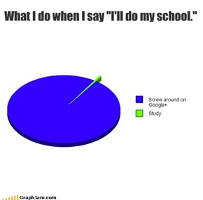 "What I do when I say ""I'll do my school."""