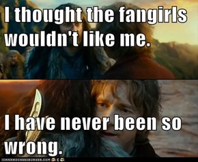 I thought the fangirls wouldn't like me.  I have never been so wrong.