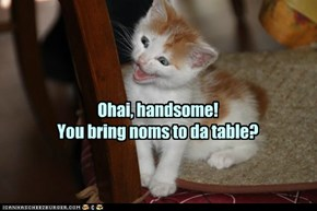 Like hooman babies, kittehs are born knowing how to flirt.
