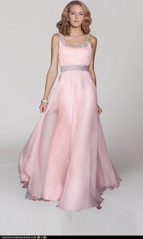 pink abendkleider lang