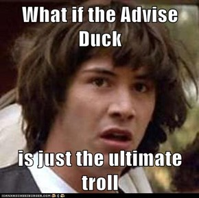 What if the Advise Duck  is just the ultimate troll