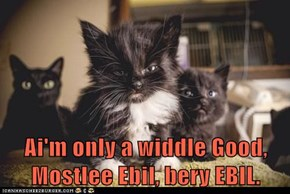 Ai'm only a widdle Good, Mostlee Ebil, bery EBIL.