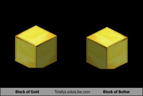 Block of Gold Totally Looks Like Block of Butter