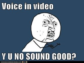Voice in video  Y U NO SOUND GOOD?