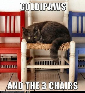 GOLDIPAWS  AND THE 3 CHAIRS