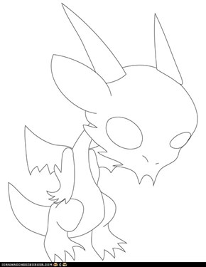 Chibi vector Qujin Outline no eyes