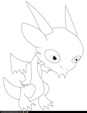 Chibi vector Qujin Outline with eyes