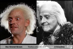 Doc Emmet Brown Totally Looks Like A Grandma