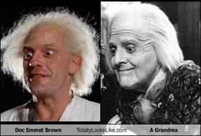 Doc Emmet Brown Totally Looks Like A Grandma