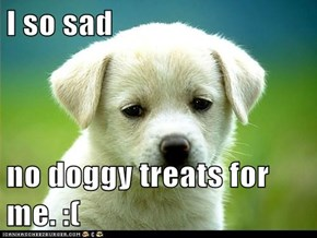 I so sad  no doggy treats for me. :(