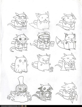 Full page of Super Chibi page of Qujin Halloween