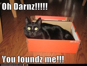 Oh Darnz!!!!!  You foundz me!!!