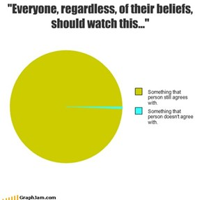 """""""Everyone, regardless, of their beliefs, should watch this..."""""""