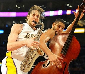 Pau Gasol and Tim Duncan are Playing the Jazz Tonight