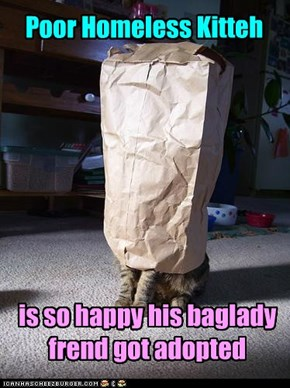 PHK is still out on teh mean streetz, tho. Still, yay for da baglady catz!