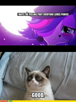 All this drama JUST because of LPS and MLP:FIM?!