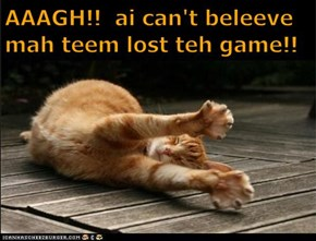 AAAGH!!  ai can't beleeve mah teem lost teh game!!