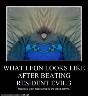 WHAT LEON LOOKS LIKE AFTER BEATING RESIDENT EVIL 3