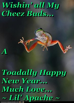 Wishin' all My Cheez Buds... A Toadally Happy New Year...       Much Love...                           ~ Lil' Apache ~