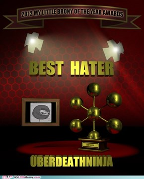Best Hater of the Year - Winner!