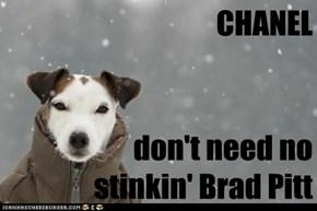 CHANEL                               don't need no stinkin' Brad Pitt