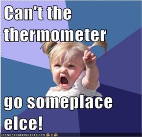 Can't the thermometer   go someplace elce!