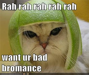 Rah rah rah rah rah  want ur bad bromance